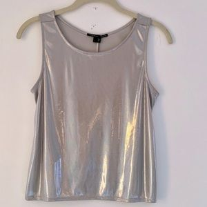 Theyskens Theory silver shimmer top